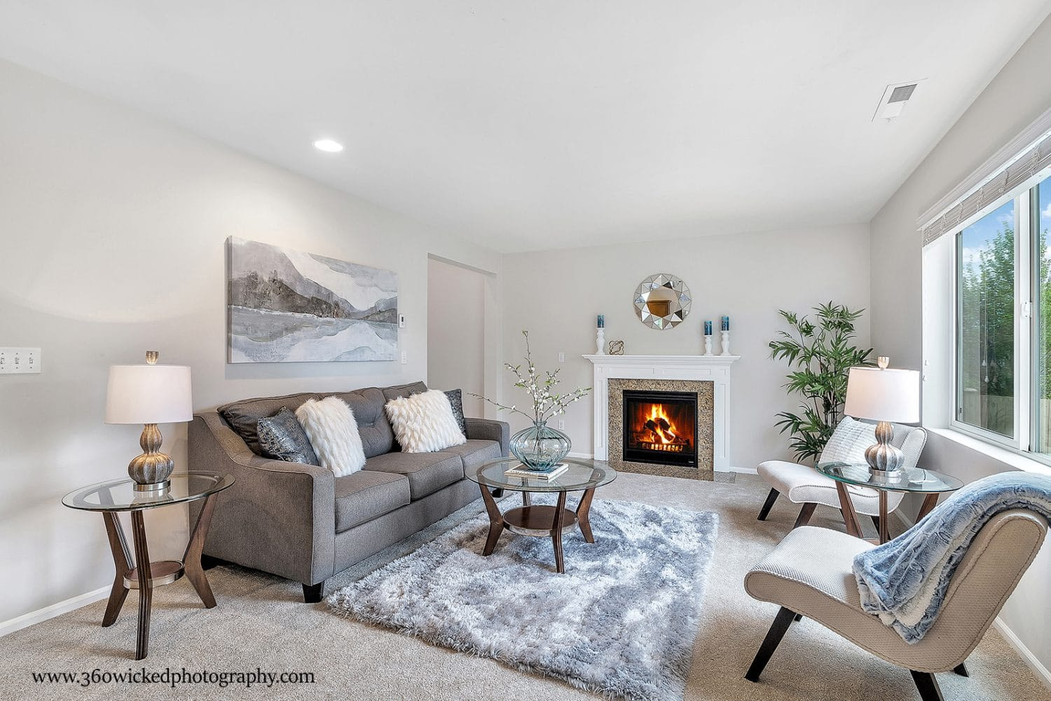 Fireplace with Couch