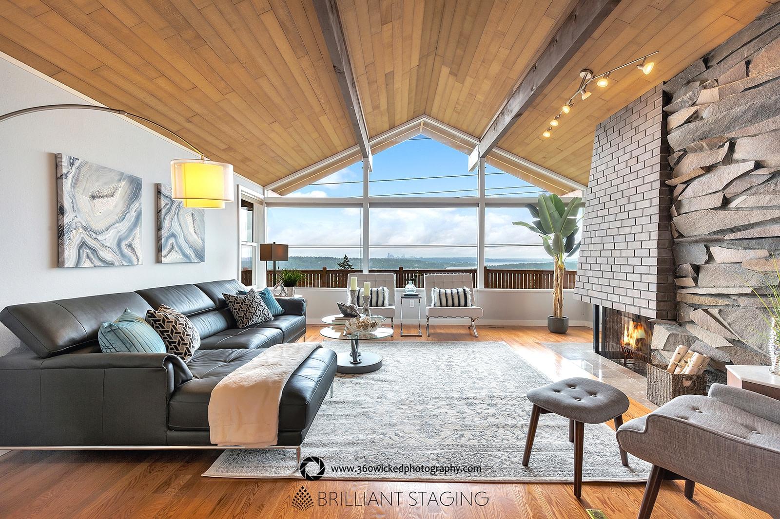 The man living room
