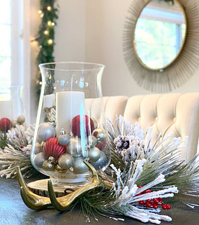 Christmas decorations Home decor Holiday decor Dining table decoration Dining room decor