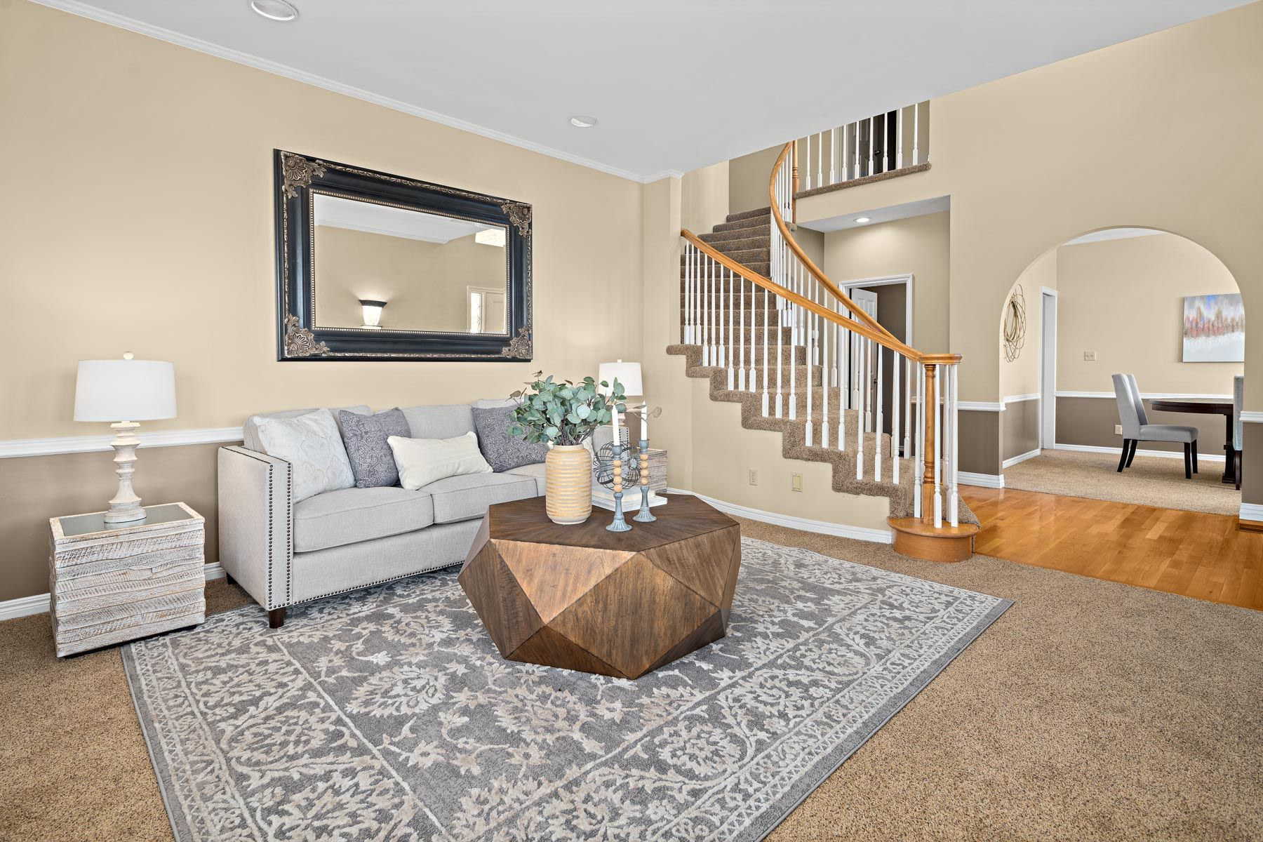 Living Room Home Staging By Brilliant Staging
